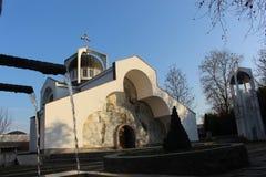 Die Kirche der Großmutter Vanga, St. Petka in Rupite durch heißes und kaltes Wasser Lizenzfreie Stockfotos