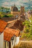Die Kirche in der Stadt von Barichara, Kolumbien Lizenzfreie Stockfotografie
