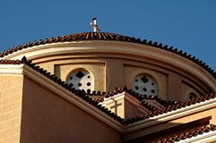 Die Kirche des Agia Jachthafens Stockfotografie