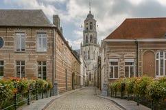 Die Kirche des Heiligen Gommaire in Lier, Belgien stockbilder