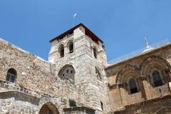 Die Kirche des heiligen Sepulcher-Kontrollturms Lizenzfreies Stockfoto