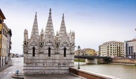 Die Kirche Heiliger Mary von Spina Lizenzfreie Stockfotografie