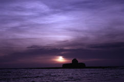 Die Kirche im Meer Stockbild