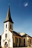 Die Kirche am La-Taubenschlag-d'Arbroz in Frankreich Lizenzfreies Stockfoto