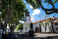 Die Kirche in Machico auf der Insel von Madeira Portugal Stockfotografie