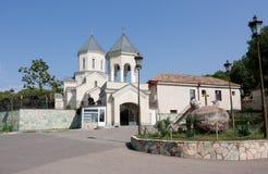 Die Kirche nahe bei dem Haus Museum, zum eines Verfassers Ilia Chavchavadze herzustellen georgia Stockbilder