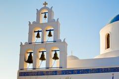 Die Kirche in Oia, Santorini Lizenzfreie Stockbilder