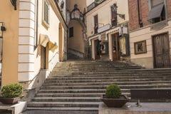 Die Kirche von Acquie Terme, Italien Stockbilder
