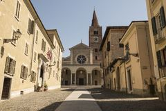 Die Kirche von Acquie Terme, Italien Stockbild
