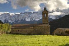 Die Kirche von Arsèguel Lizenzfreie Stockfotos