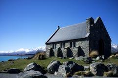 Die Kirche von der gute Hirte, See Tekapo Stockfotografie