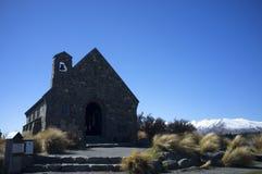Die Kirche von der gute Hirte, See Tekapo Stockbilder