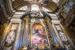 Die Kirche von Gesu im Corso Vittorio Emanuel 2 in Rom Italien Lizenzfreie Stockfotografie