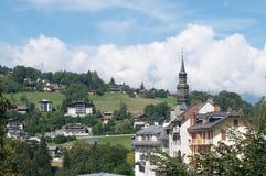 Die Kirche von Heilig-Gervais-les-bains Lizenzfreie Stockbilder