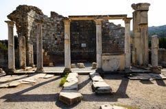 Die Kirche von Mary in Ephesus, die Türkei Stockfotos