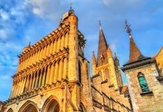 Die Kirche von Notre-Dame von Dijon frankreich stockbild