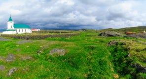 Die Kirche von Reykjahlid Lizenzfreie Stockfotos