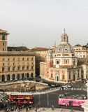 Die Kirche von Santa Maria di Loreto, Rom stockfotografie
