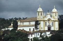 Die Kirche von Santo Antonio in Tiradentes, Minas Gerais, Brasilien Lizenzfreies Stockbild