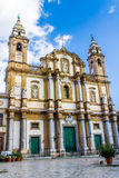 Die Kirche von St Dominic in Palermo, Italien stockbilder