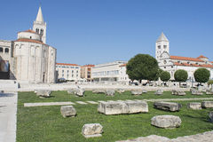 Die Kirche von St. Donatus in Zadar, Kroatien lizenzfreies stockbild