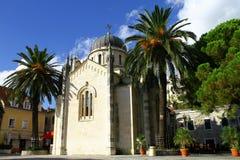 Die Kirche von St Jerome in Herceg Novi stockbilder