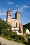 Die Kirche von St. Leger in Murbach Abtei in Frankreich Lizenzfreie Stockfotografie