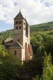 Die Kirche von St. Leger in Murbach Abtei in Frankreich Lizenzfreies Stockbild