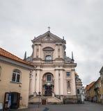 Die Kirche von St Theresa in Vilnius, Litauen lizenzfreies stockfoto