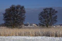 Die Kirche in Wijckel Stockbild