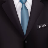 Die Klage der Männer mit Hintergründen eines blauen Bindung-ähnlichen Realismus für Geschäftsgeschenke vektor abbildung