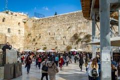 Die Klagemauer, der Tempelberg, alte Stadt von Jerusalem lizenzfreies stockbild