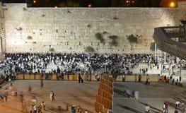 Die Klagemauer, die Klagemauer oder das Kotel ist in der alten Stadt von Jerusalem am Fuß der Westseite des Tempelbergs Lizenzfreies Stockfoto