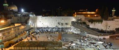 Die Klagemauer, die Klagemauer oder das Kotel ist in der alten Stadt von Jerusalem am Fuß der Westseite des Tempelbergs Lizenzfreie Stockbilder