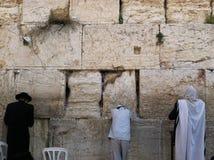 Die Klagemauer, die Klagemauer oder das Kotel ist in der alten Stadt von Jerusalem am Fuß der Westseite des Tempelbergs Lizenzfreie Stockfotografie