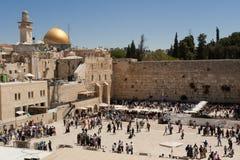 Die Klagemauer, die Klagemauer oder das Kotel ist in der alten Stadt von Jerusalem am Fuß der Westseite des Tempelbergs stockbilder