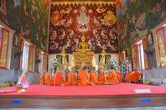 Die Klassifikations-Zeremonie eines Mönchs bei Wat Bang Pai in Nonthaburi, Thailand Lizenzfreie Stockfotos