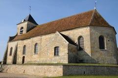 Die klassische Kirche von Sagy in v-Al d Oise Stockbilder