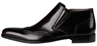 Die klassischen Schuhe der schwarzen Männer Stockfotografie
