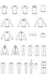 Die Kleidung der Frauen, Kleiderillustration, Vektor Lizenzfreie Stockfotografie