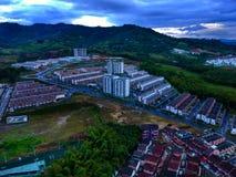 Die kleine Stadt in diesem Paradies lizenzfreie stockfotografie