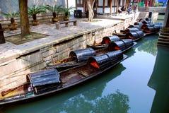 Die kleinen Fischerboote Stockbilder