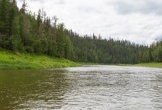 Die kleinen Flüsse von Sibirien Krasnojarsk-Region, Russland Stockfoto