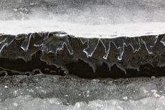 Die kleinen Zahlen des Eises zeigend vom Wasser tauchen auf Stockbilder