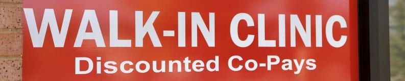 Die Klinik, abgerechnet Mit-zahlt lizenzfreies stockfoto