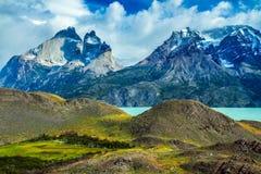 Die Klippen von Los Kuernos Stockbilder