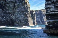 Die Klippen von Moher, Branaunmore-Seestapel stockbilder