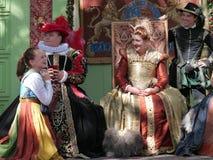 Die Königin und ihr Gefolge Lizenzfreies Stockbild