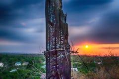 Die Kohle bei Sonnenuntergang stockbilder