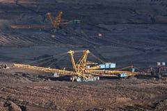 Die Kohle im Tagebau lizenzfreie stockfotografie